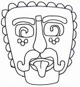 Mayan Mask Template Masks Aztec Colouring Coloring Maya Printable Geography Inca Drawing Craft America Different Animal Sheets Spanish Culture Printablecolouringpages sketch template