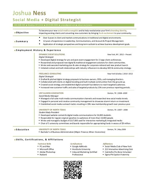 Resume Content Strategist by Joshua Ness Digital Strategist R 233 Sum 233