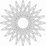 Coloring Complex Pages Adult Geometric Printable Flower Lds Pattern Printables Thesunflowerpages Fun Star sketch template