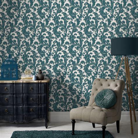 graham brown capulet cmxm wallpaper teal bunnings