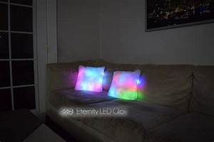 Couch Led : led light up couch pillow eternity led ~ Pilothousefishingboats.com Haus und Dekorationen