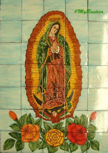 """Kitchen Tile Mural """"Virgin Mary of Guadalupe""""   Mexican"""