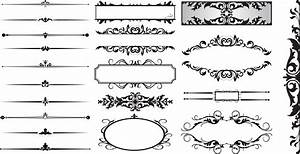 15 Line Dividers Vector Images Free Vector Decorative Line