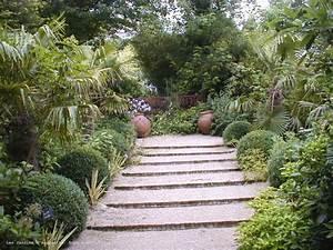 les dallages With escalier jardin en pente