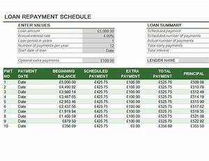 87 loan repayment schedule template auto loan for Car payment schedule template