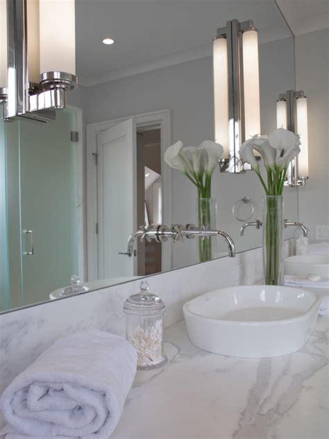 Install Bathroom Mirror by Console Sink Cottage Bathroom Vicente Burin