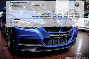 2014 Bmw 3 Series  F30  Sedan Us Price And Order Guide