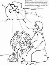 Den Daniel Coloring Lions Pages Lion Bible Popular sketch template