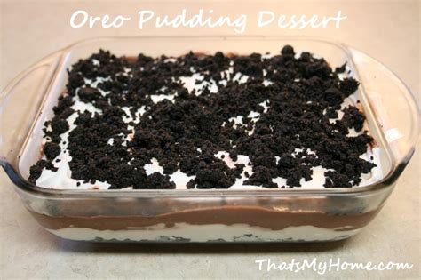 oreo pudding dessert recipes food and cooking