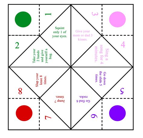 how to make a template printable origami fortune teller template calendar templates