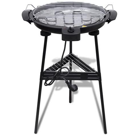 grate da giardino barbecue elettrico rotondo con supporto bbq grill da