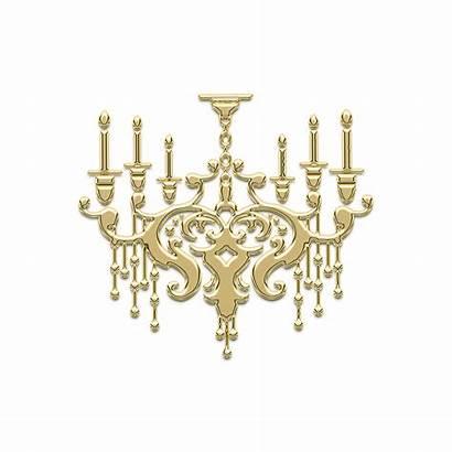 Chandelier Ornament Decor Golden Pixabay Interior Monogram