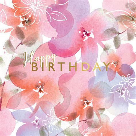 pink posies birthday card   island