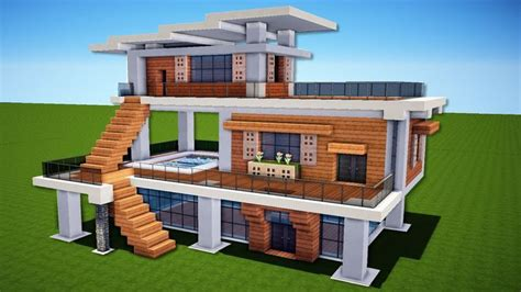 minecraft   build  modern house easy tutorial easy minecraft houses minecraft modern