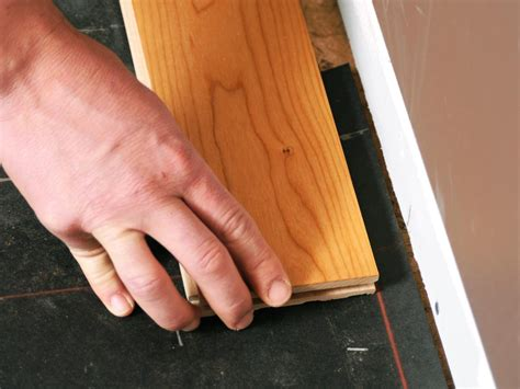 how to fit real wood flooring how to install prefinished solid hardwood flooring how tos diy
