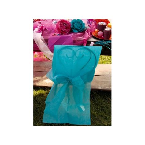 housse de chaise turquoise housses de chaise intissé turquoise avec noeud décorations