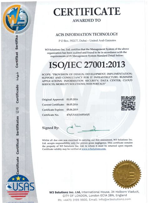 Iso 27001 Version 2013 Resumen by Acis It Ict Solutions Services Support Provider