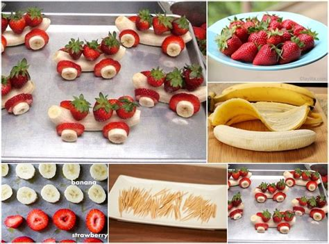 these strawberry and banana cars will be loved by