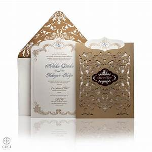 regal laser cut wedding invitations ceci style With wedding invitation printing lagos