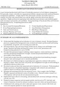 banquet sous chef resume above to save hospitality business manager resume exle page 1