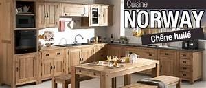 Meuble Cuisine Bois Naturel : cuisine quip e bois massif le bois chez vous ~ Teatrodelosmanantiales.com Idées de Décoration