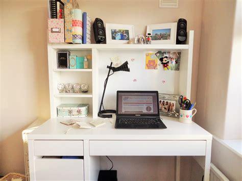 white ikea micke desk   perfect workspace