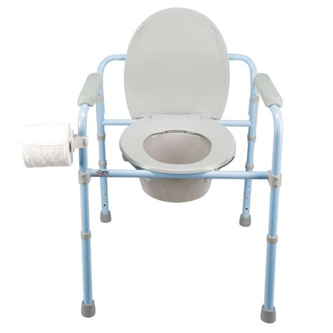 toilet chair for adults deluxe folding commode carex health brands b34100 portable toilets cing world