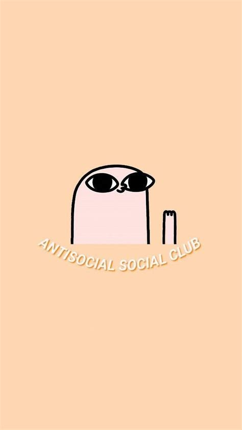 antisocial social club aesthetic pastel wallpaper with