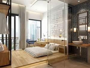 25 idees pour la chambre a coucher moderne de toute taille With salle de bain design avec décoration lit bébé