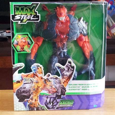 Mattel Max Steel Ntek Exploding Magma Elementor New