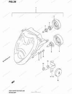 Suzuki Motorcycle 2003 Oem Parts Diagram For Headlamp