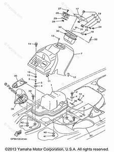 Yamaha Waverunner 1998 Oem Parts Diagram For Engine Hatch