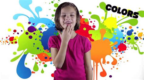 color sign language colors song learn your asl colors