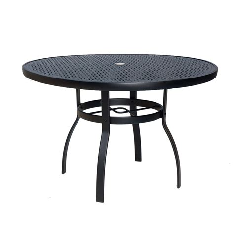 42 round dining table woodard deluxe 42 inch round lattice top dining table