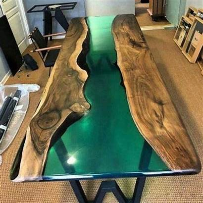 Epoxy Resin River Wood Furniture Edge Form