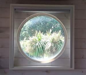 un store occultant carre pour une fenetre ronde With oeil de boeuf interieur