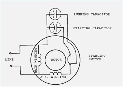 single phase capacitor start run motor wiring diagram vivresaville