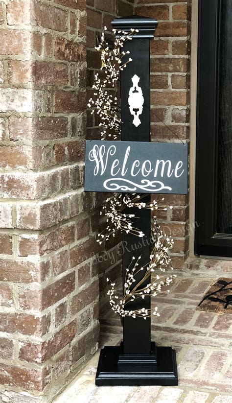 Decorative L Posts - decorative welcome sign decorative welcome porch post