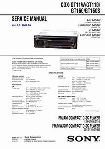 Sony Cdx-gt160 Service Manual