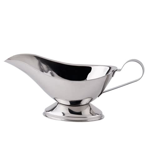 Gravy Boat From by 16 Oz Stainless Steel Gravy Boat
