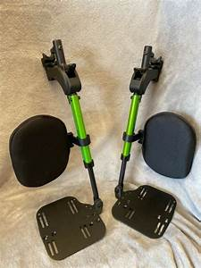 Swing Away Manual Elevated Foot Rest Foot Leg Rest For