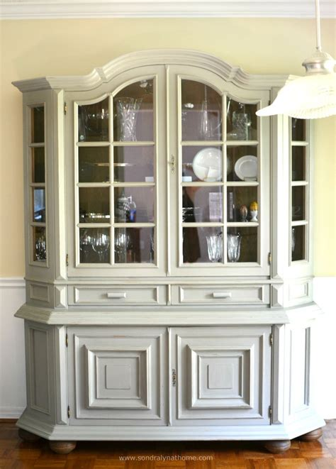 hometalk diy china cabinet chalk paint makeover - Painted Hutch Ideas
