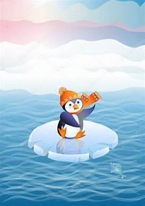 Pingouin Sur La Banquise : pingouin sur la banquise image vectorielle olgart 8069489 ~ Melissatoandfro.com Idées de Décoration
