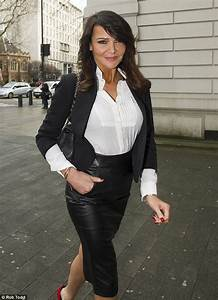 Lizzie Cundy Wades Does The School Run In Her Skimpy