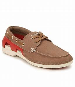 Crocs 200247 27Y Brown Canvas Casual Shoes available at ...