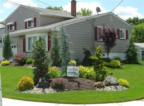 corner lot landscaping ideas idea for berm in front yard natural stone drystack landscape