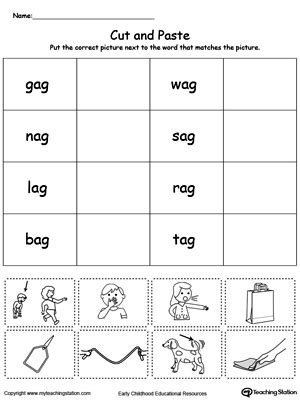 ag word family match picture  word myteachingstationcom