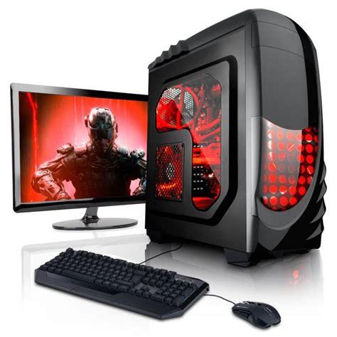 ordinateur de bureau complet pas cher pc gamer unité centrale pc gamer complet ecran led 22
