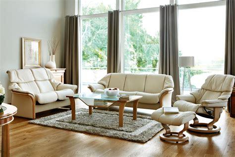 canape stressless stressless eldorado lowback sofa modern recliner leather
