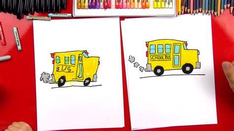 draw  school bus art  kids hub